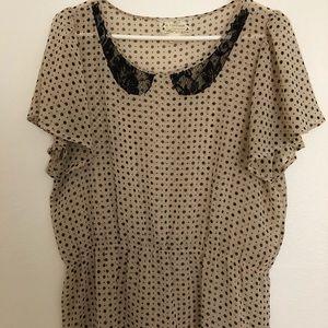Polka dot Anthropologie blouse